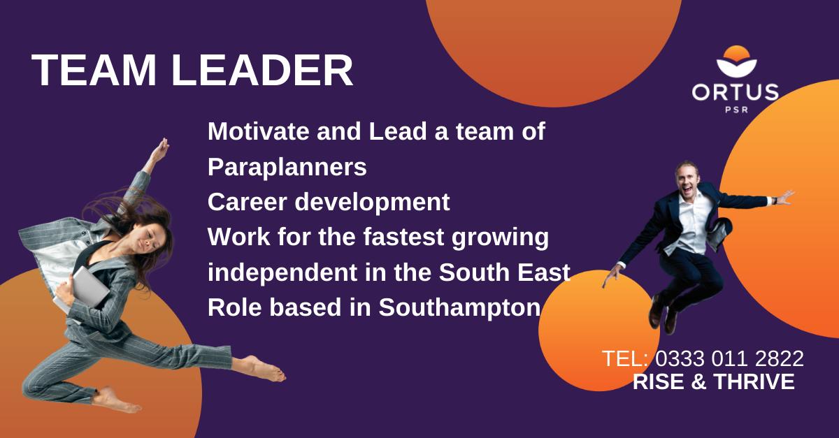 Paraplanner Team Leader